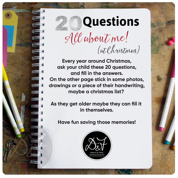All about me 20 Questions - Christmas Interview Scrapbook