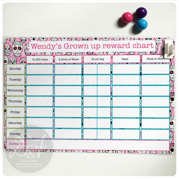 A4 reusable, Magnetic, reward chart for kids (or adults!)