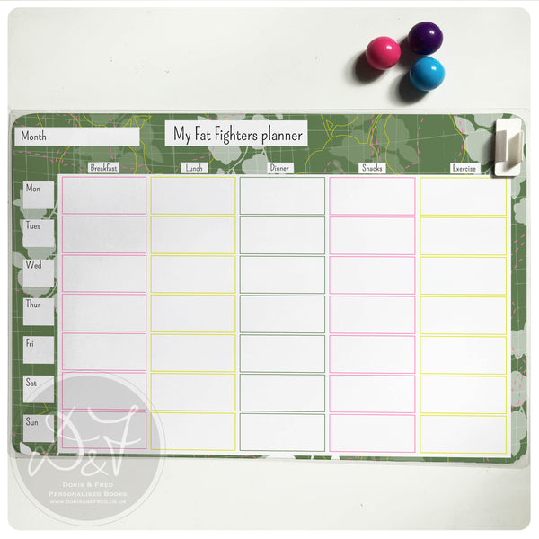 A4 Personalised reusable Magnetic Weekly planner/Chores/Meal planner