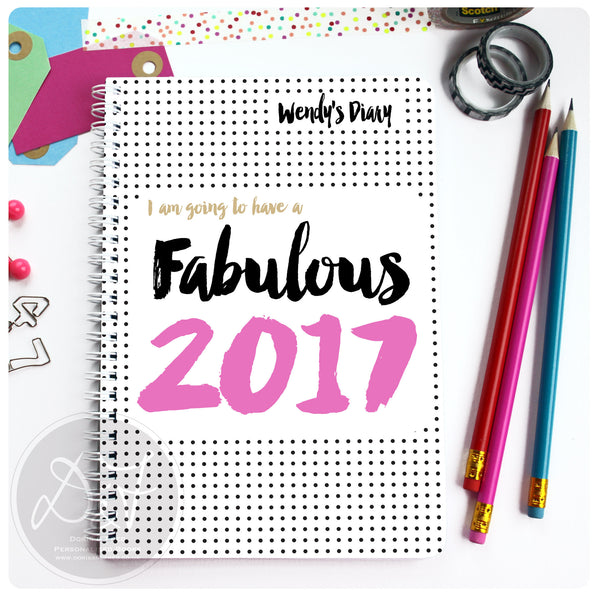 2017 Diary with personalised cover