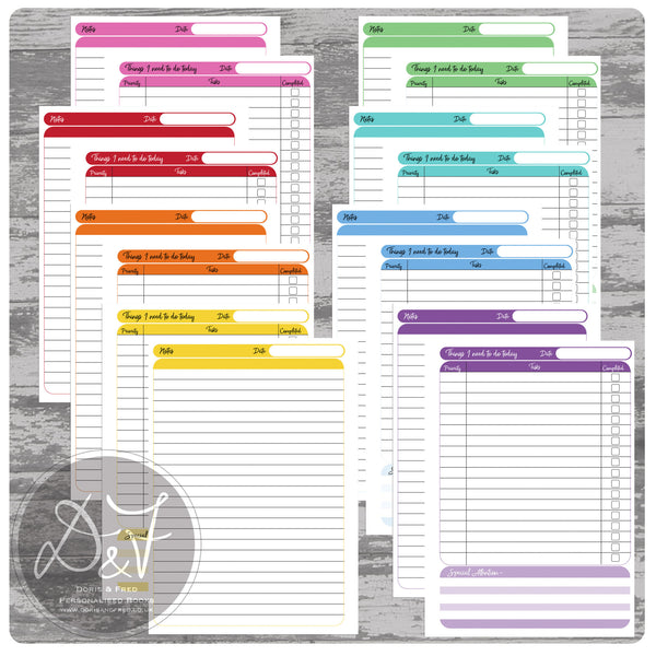 Rainbow to do list book