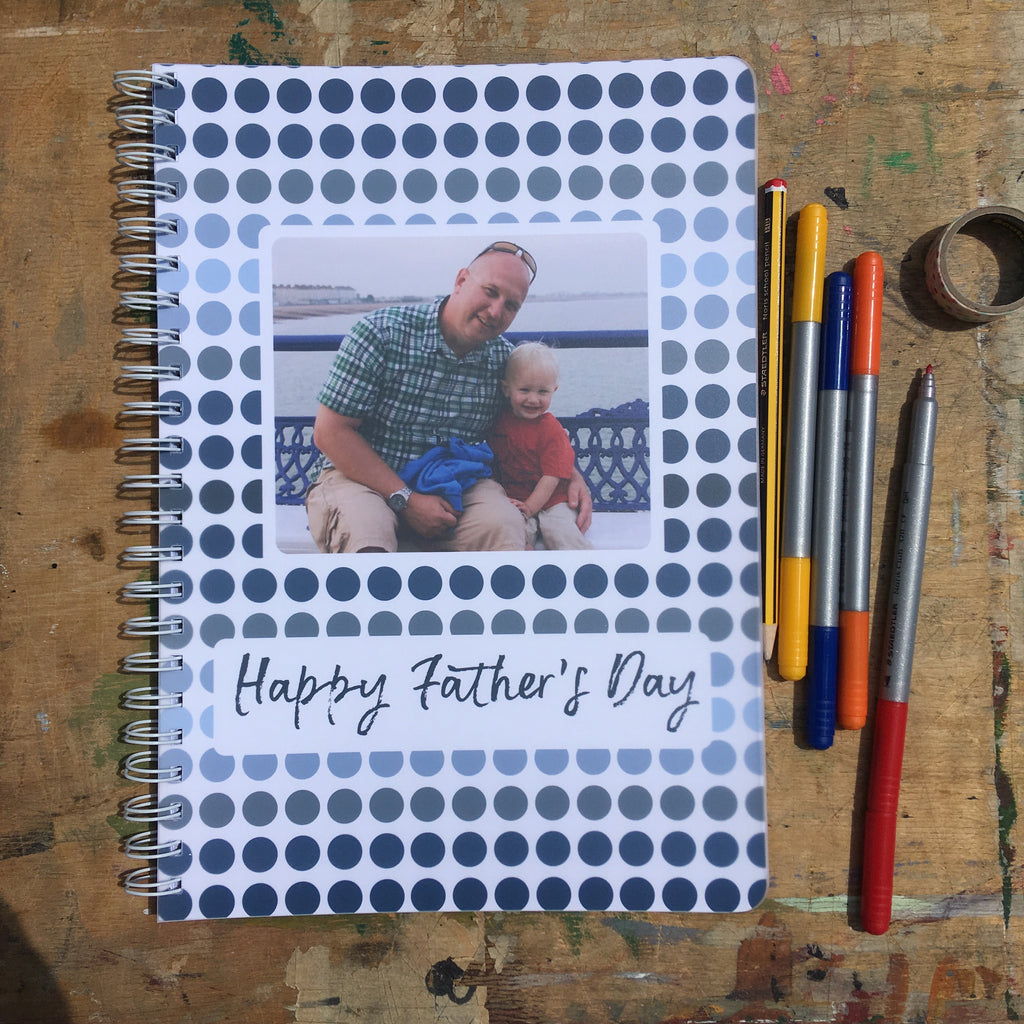Personalised Card Journal for Father's Day, Mother's Day or Birthdays