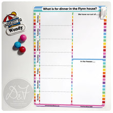 Load image into Gallery viewer, A4 Magnetic reusable wipe clean Meal planner