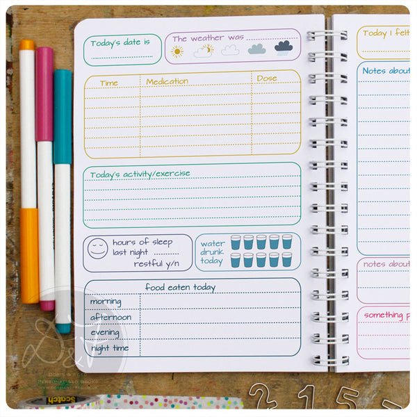 Mood Diary with additional Pain Tracking pages