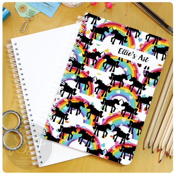 Personalised plain notebook A5 or A4