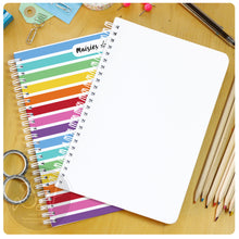 Load image into Gallery viewer, Personalised plain notebook A5 or A4