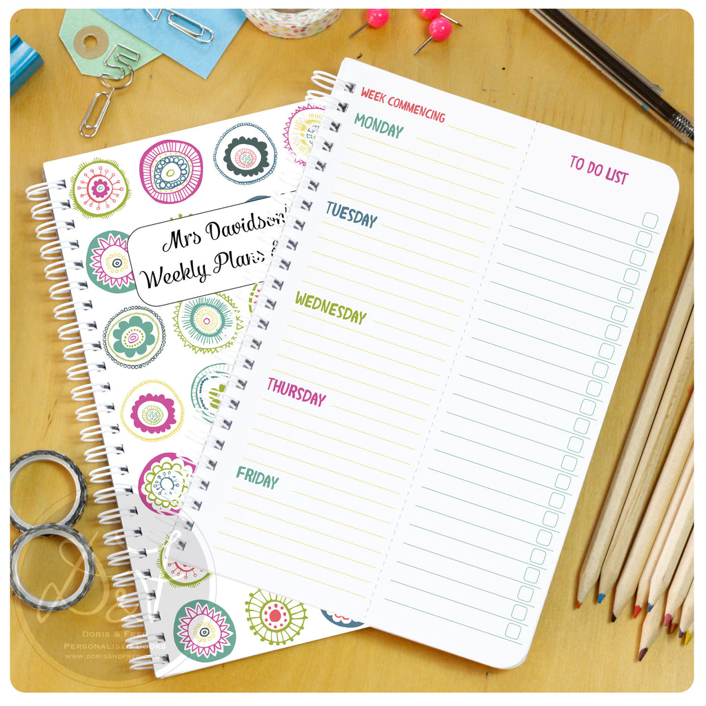 Five day planner with tear off to do lists