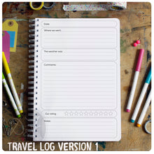 Load image into Gallery viewer, Personalised Travel log book/journal