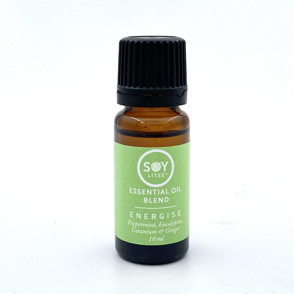 SoyLites 10ml Aromatherapy 10ml Energise: Peppermint, Eucalyptus, Geranium and Ginger