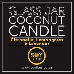 SoyLites Coconut Candle Coconut Candle with Citronella, Lemongrass & Lavender 200ml