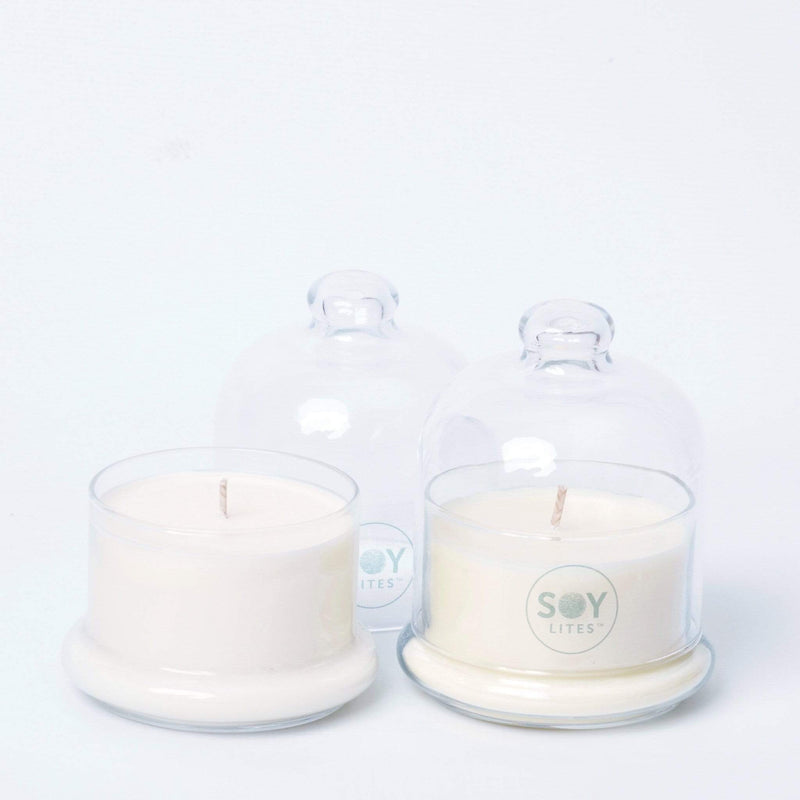 SoyLites Gift Packs and Ideas Glass Bell Gift Candle with Lid 150ml