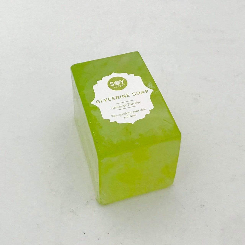 SoyLites Soaps Glycerine Soap Bar 150g - Tea-Tree & Lemon