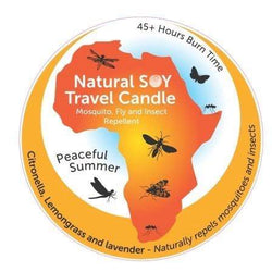 SoyLites Maxi Travel Lites 200ml Peaceful Summer African Maxi-Lite 200ml ~ Insect Repellent Candle