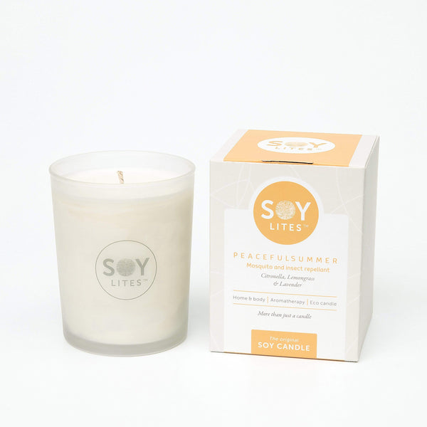 SoyLites Soy Aromatherapy Tumbler 220 ml Peaceful Summer Tumbler 220ml with Citronella, Lemongrass & Lavender