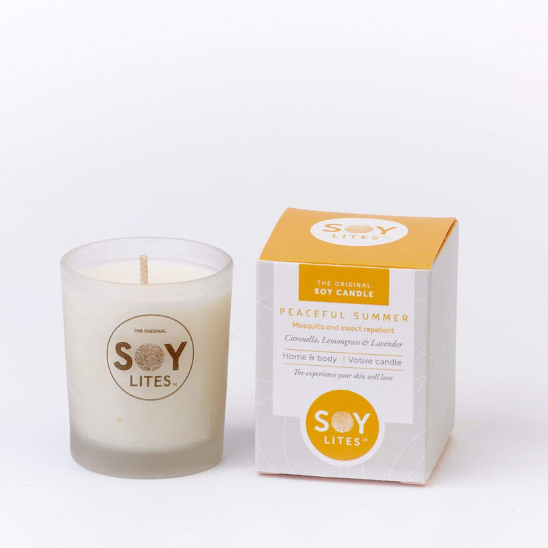 SoyLites Soy Aromatherapy Votive 70ml Peaceful Summer Votive 70ml with Citronella, Lemongrass & Lavender