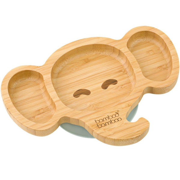 Bamboo Baby Elephant Suction Plate
