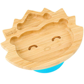 Bamboo Hedgehog Suction Plate Baby Product BB Pre-Order Blue