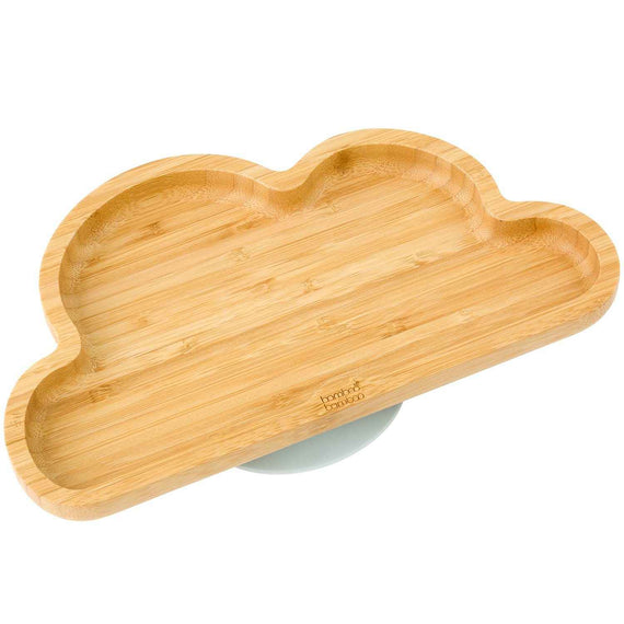 Bamboo Cloud Suction Plate Baby Product BB Grey