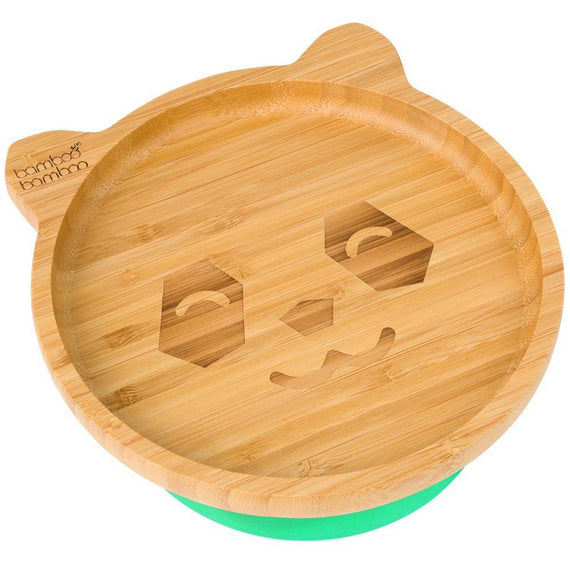 Bamboo Big Panda Suction Plate Feeding Products bamboo bamboo Green