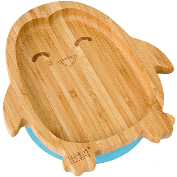 Bamboo Penguin Suction Plate Feeding Products bamboo bamboo