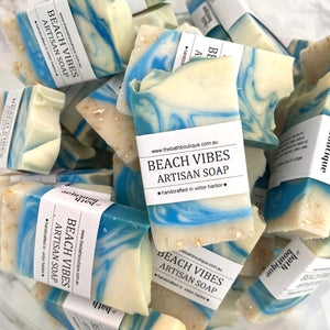 beach vibes artisan soap - guest size