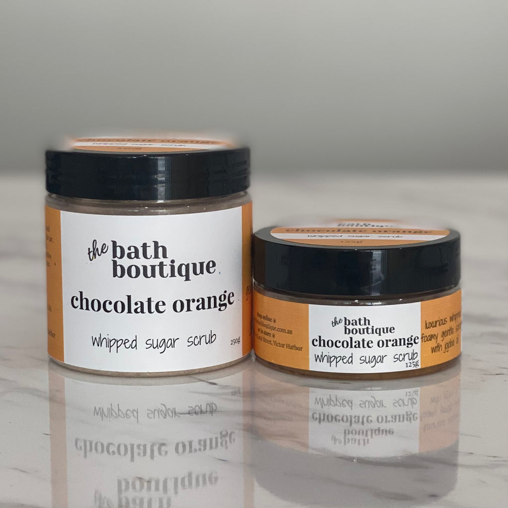 chocolate orange whipped sugar scrub