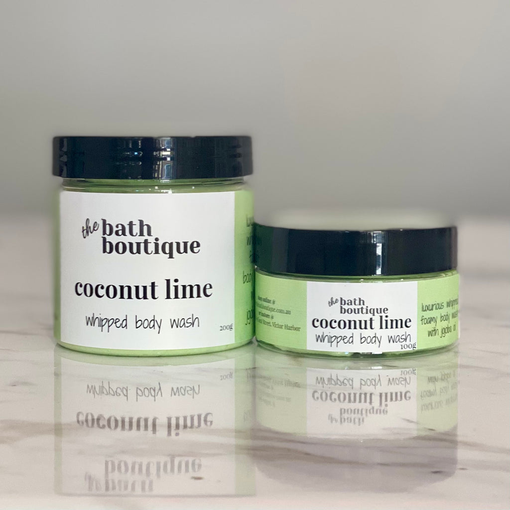 coconut lime whipped body wash