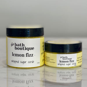lemon fizz whipped sugar scrub