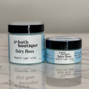 fairy floss whipped sugar scrub