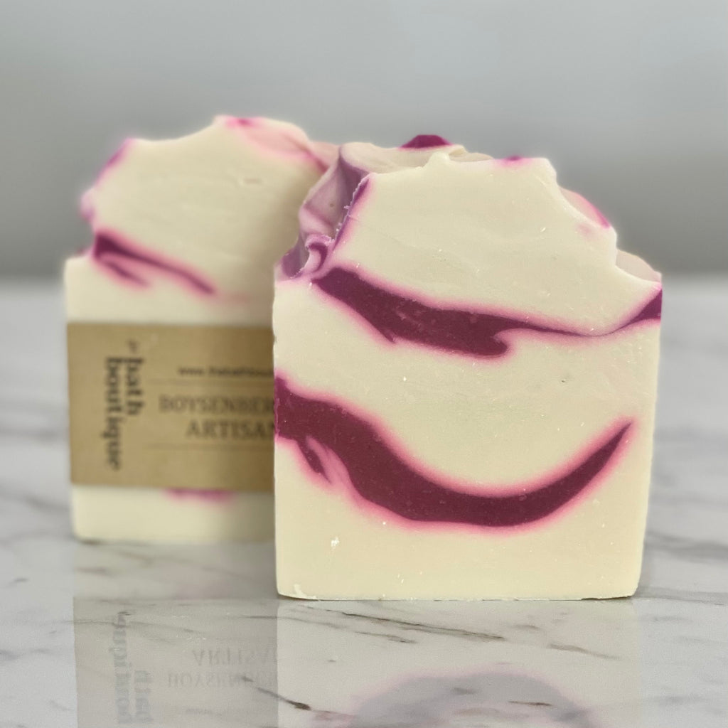 boysenberry swirl artisan soap