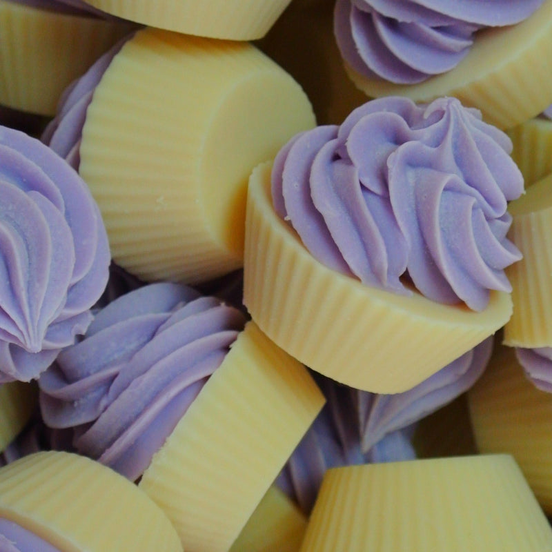 powderpuff mini cupcake soap