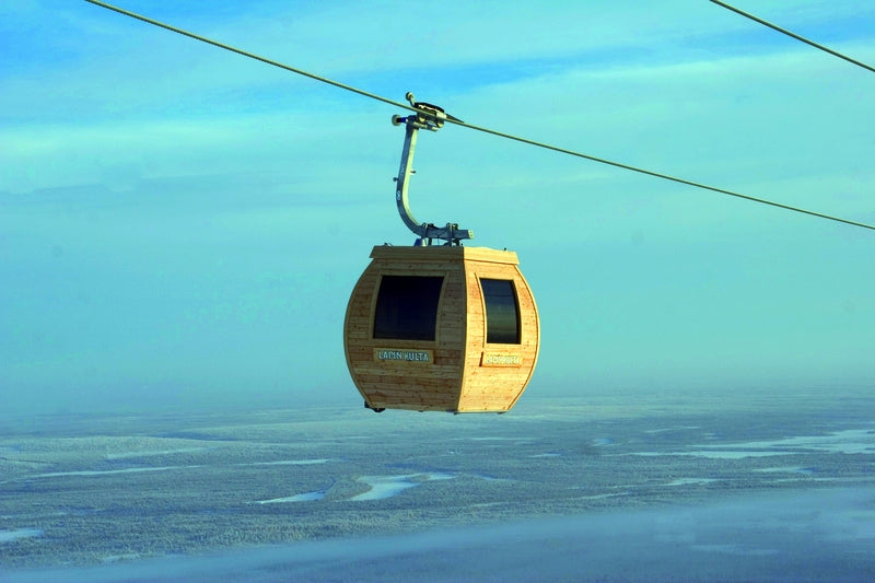 The only Sauna gondola in the world, Ylläs, Finland