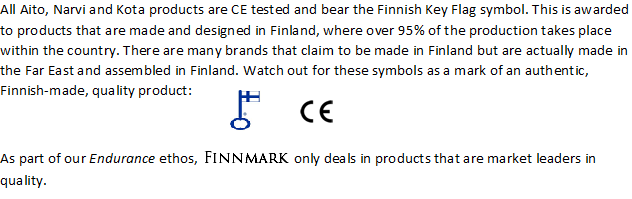 Finnish Key Flag, CE Marked and Finnmark Ethos