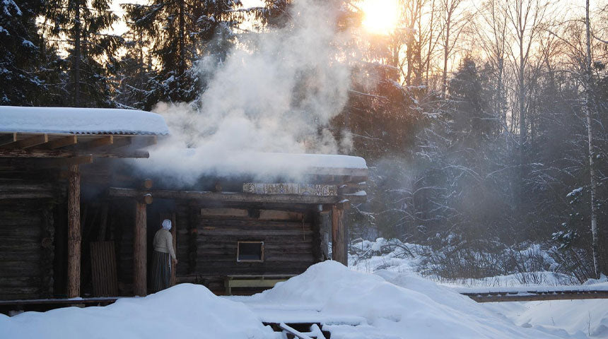 most Finnish families sauna bathing together at least two or three times a week