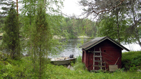 Traditional Finnish Sauna Cabin