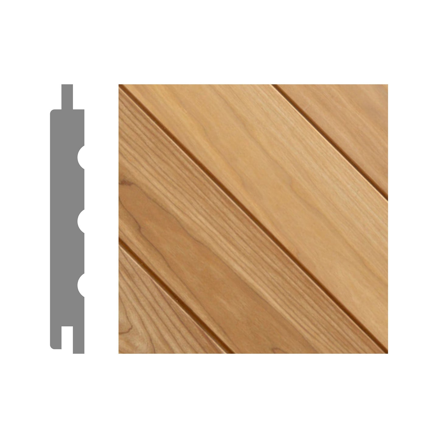Thermo Aspen Sauna Panel Cladding Kallio Profile (6 Pack) 2.1m / 120mm 2.4m / 120mm Sauna Timber Finnmark Sauna