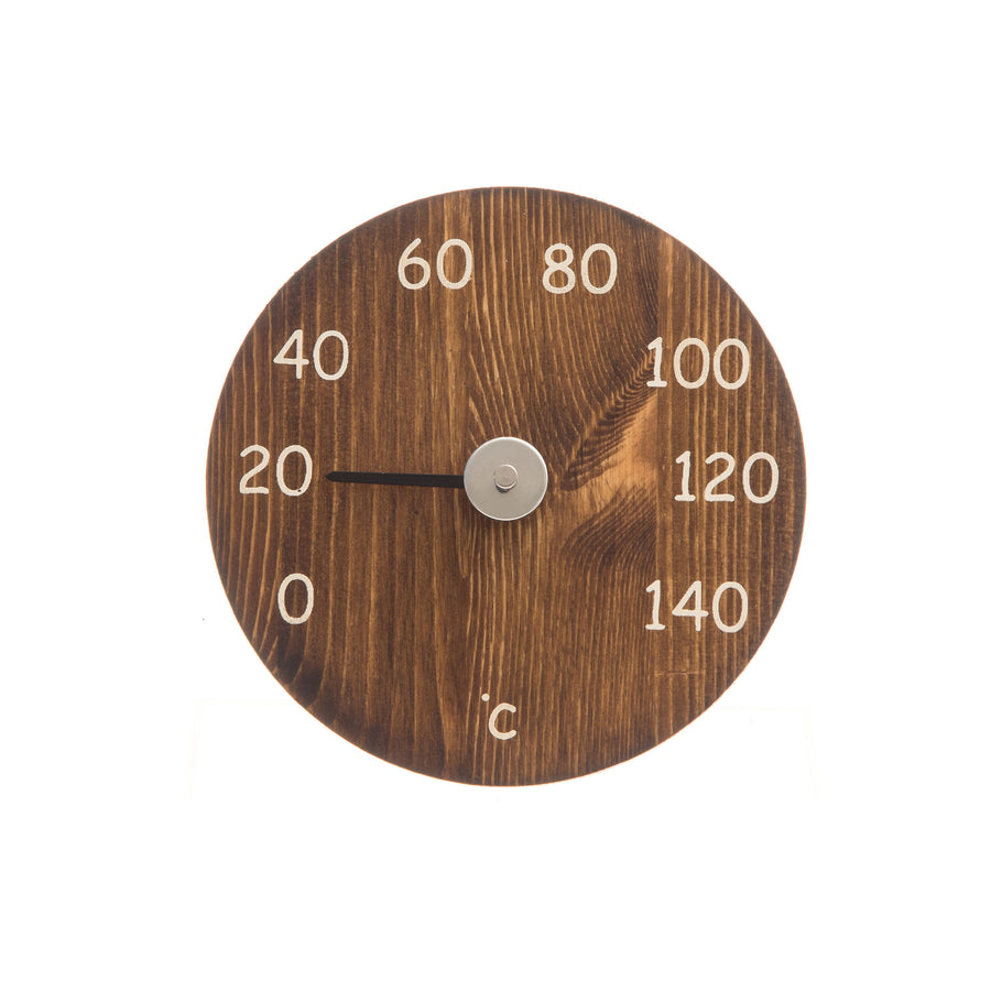 4 Living Sauna Thermometer Brown