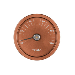 Rento Aluminium Sauna Thermometer Copper Brown