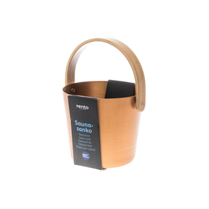 Rento 5l Anodised Aluminium Sauna Pail in Copper