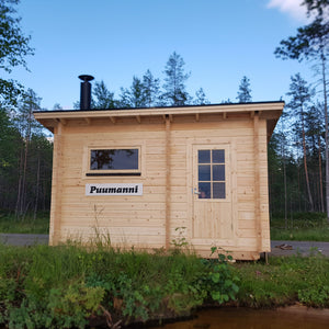Outdoor/Garden Wood Burning Sauna Cabin 8 Hoikka