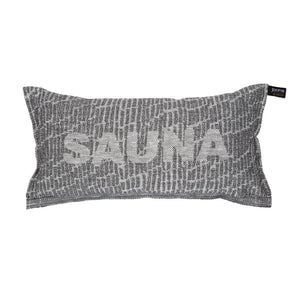 Sauna Pillow Saunatikut Collection by Jokipiin Pellava White/Black  Sauna Pillow Finnmark Sauna