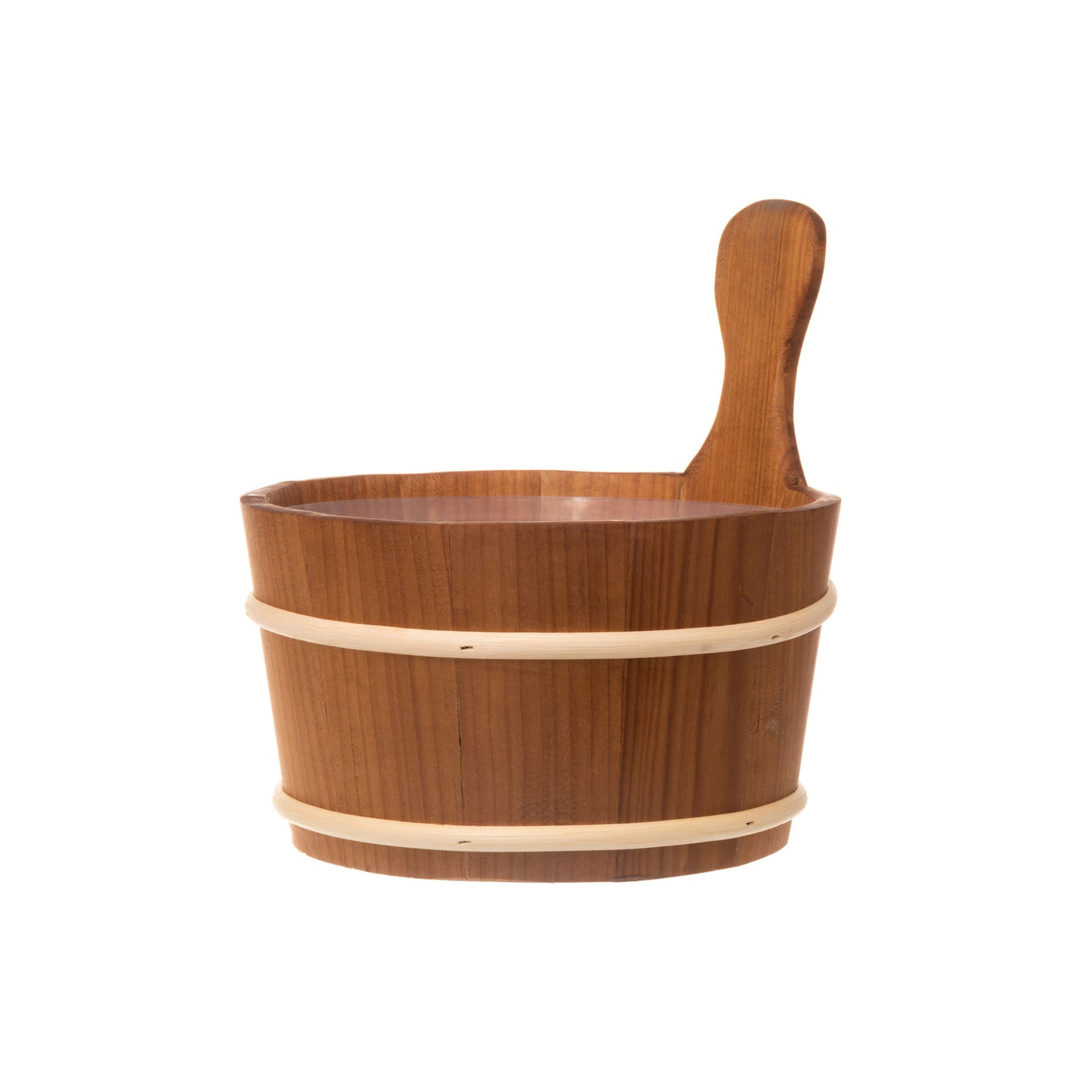 4 Living Sauna Bucket Heat Treated Alder 4 Litre Default Title Sauna Bucket/Pail Finnmark Sauna