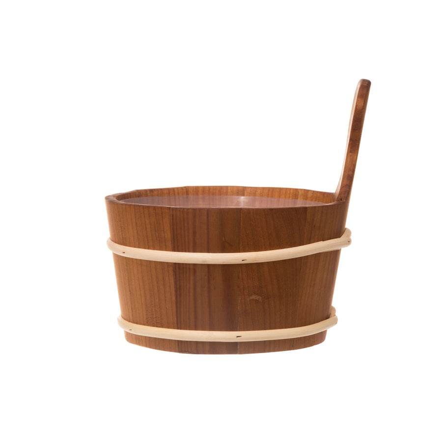 4 Living Sauna Bucket Heat Treated Alder 4 Litre  Sauna Bucket/Pail Finnmark Sauna