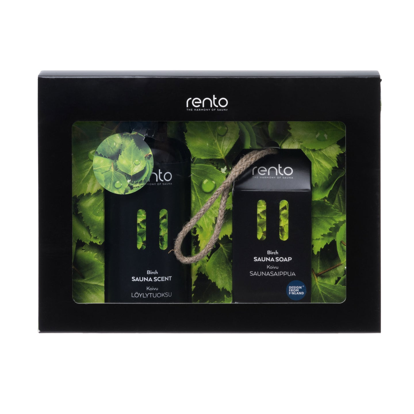 Rento Birch Sauna Scent Sauna Oil 400ml & Biodegradable Sauna Soap 150g Gift Set  Sauna Scents Finnmark Sauna