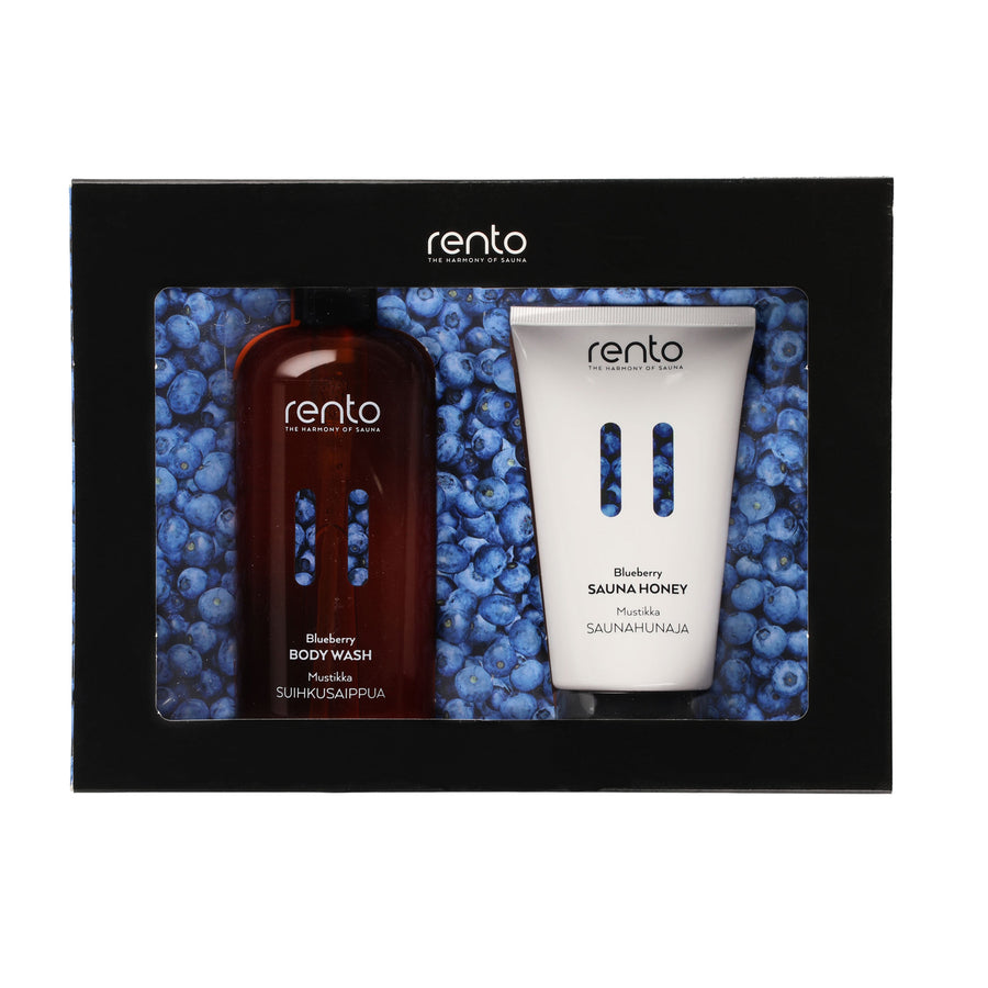 Blueberry Body Wash & Sauna Honey Gift Set Set by Rento  Gift Set Finnmark Sauna