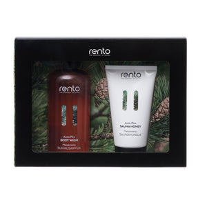 Arctic Pine Body Wash & Sauna Honey Gift Set Set by Rento  Gift Set Finnmark Sauna