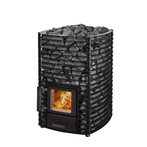 Narvi Velvet 20 Wood Burning Sauna Heater Stove Black