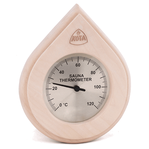 Kota Water Drop Type Thermometer or Hygrometer with cover, Aspen