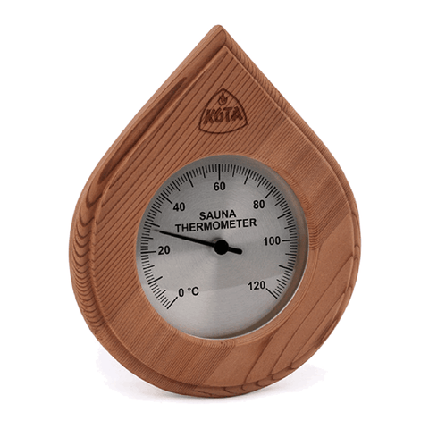 Kota Water Drop Type Thermometer or Hygrometer with cover, Cedar