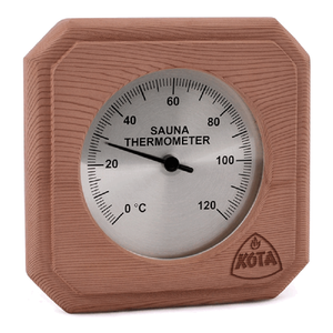 Kota Box Type Thermometer or Hygrometer with cover in Cedar